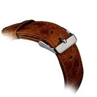 Ремешок кожаный iBacks Waxy Leather Watchband для Apple Watch 38мм - Orange