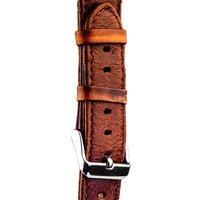 Ремешок кожаный iBacks Waxy Leather Watchband для Apple Watch 38мм - Dark Coffee