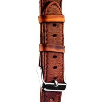 Ремешок кожаный iBacks Waxy Leather Watchband для Apple Watch 38мм - Dark Coffee