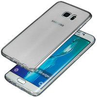 Черный прозрачный силиконовый чехол для Samsung Galaxy S7 Edge