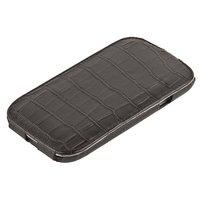 Кожаный чехол Melkco Jacka Type Crocodile для Samsung Galaxy S4 GT-I9500 - Black