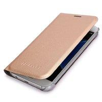 Золотой чехол книжка Wallet Card Flip Cover для Samsung Galaxy S7