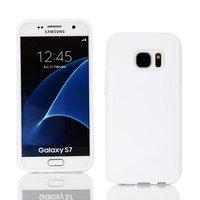 Белый силиконовый чехол c волной для Samsung Galaxy S7 - S Line Wave Silicone Case White