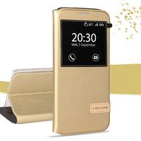 Золотой чехол с окном Usams для Samsung Galaxy S7