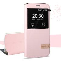 Розовый чехол книжка с окном Usams для Samsung Galaxy S7