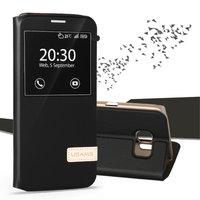 Черный чехол с окошком Usams для Samsung Galaxy S7