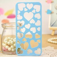 Накладка голубая Case для iPhone 5s / SE / 5 сердце