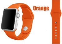 Спортивный силиконовый ремешок для Apple Watch 42мм Оранжевый