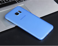 Голубой ультратонкий чехол накладка для Samsung Galaxy S7