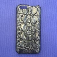 Черный чехол из кожи крокодила для iPhone 6 / 6s хвост