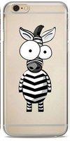Белый чехол накладка с рисунком зебра для iPhone 6s / 6