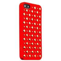Пластиковый чехол накладка для iPhone 5s / SE / 5 красная Rock Puro
