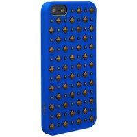 Пластиковый чехол накладка для iPhone 5s / SE / 5 синий Rock Puro