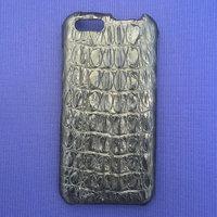 Черный чехол из крокодиловой кожи для iPhone 6 / 6s хребет