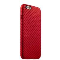 Красный карбон чехол накладка для iPhone 6s / 6 кожаный
