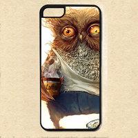 Чехол накладка для iPhone 5s / SE / 5 Сова с кофе