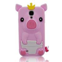 Силиконовый чехол для Samsung Galaxy S4 розовый поросенок - Pig Silicone Case Pink