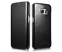 Черный винтажный кожаный чехол для Samsung Galaxy S7 Edge - i-Carer Vintage Series Black