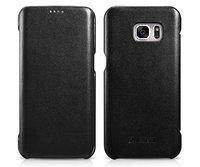 Черный кожаный книга чехол для Samsung Galaxy S7 Edge - i-Carer Luxury Series Black