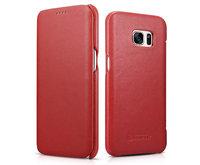 Красный кожаный чехол книга для Samsung Galaxy S7 Edge - i-Carer Luxury Series Red