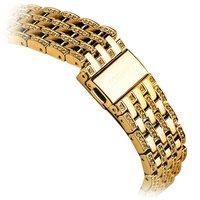 Золотой металлический ремешок со стразами для Apple Watch 42мм - COTEetCI W4 Magnificent Band Gold