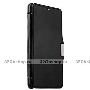 Черный кожаный чехол для Samsung GALAXY Note 5 SM-N920C - i-Carer Vintage Series Black