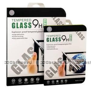 Стекло защитное для iPad 2017 / Air 2 / Air  со скосом кромки - Premium Tempered Glass 0.26mm 2.5D