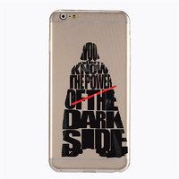 Пластиковый чехол накладка с рисунком для iPhone 6s / 6 Звездные войны - Star Wars - YOU DON'T KNOW THE POWER OF THE DARK SIDE