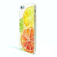 Силиконовый чехол накладка для iPhone 5s / SE / 5 с рисунком апельсин