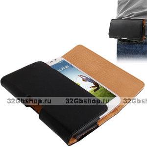 Чехол на ремень для Samsung Galaxy S4 I9500 черный