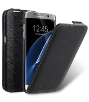 Черный кожаный чехол для Samsung Galaxy S7 Edge - Melkco Premium Leather Case Jacka Type (Black LC)