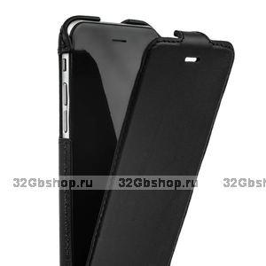 Черный кожаный чехол для iPhone 6s / 6 (4.7) с откидным верхом - Valenta Flip Classic Luxe