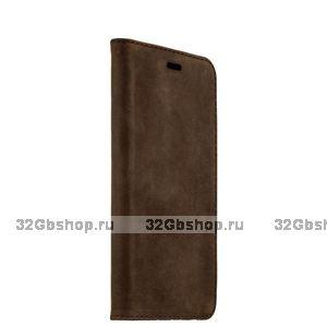 Коричневый замшевый чехол подставка для iPhone 6s / 6 (4.7) - Valenta Booklet Classic Style Vintage Brown
