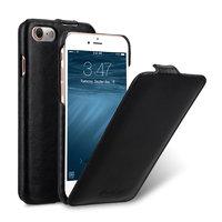 Черный кожаный чехол Melkco для iPhone 7 / 8 - Melkco Leather Case Jacka Type Black