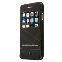 Черный чехол книжка с окошком на iPhone 7 / 8 - Baseus Unique leather case for iPhone 7 / 8