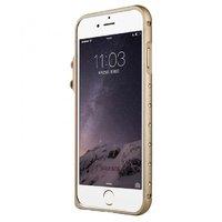 Золотой алюминиевый бампер со стразами для iPhone 7 - Baseus Eternal Series Bumper Gold for iPhone 7