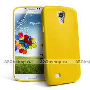 Силиконовый чехол для Samsung Galaxy S4 i9500 - Slim Silicone Case Yellow - желтый