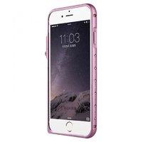 Розовый алюминиевый бампер со стразами для iPhone 7 / 8 - Baseus Eternal Series Pink Bumper for iPhone 7 / 8