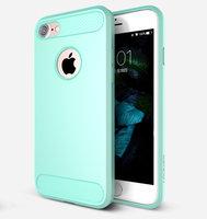 Голубой защитный пластиковый чехол для iPhone 7 / 8 - USAMS Cool Series Luxury Case Light Blue