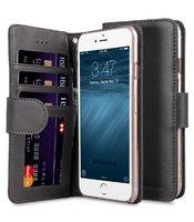 """Черный кожаный чехол кошелек для iPhone 7 Plus / 8 Plus (5.5"""") - Melkco Premium Leather Case Wallet Book ID Slot Type (Grey Wax)"""