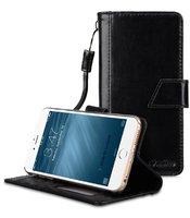 "Черный чехол кошелек подставка для iPhone 7 Plus / 8 Plus (5.5"") - Melkco Premium Genuine Leather Kingston Style Case (Black Wax)"