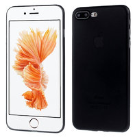 Черный ультратонкий пластиковый чехол для iPhone 7 Plus / 8 Plus
