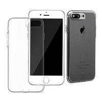 Тонкий черный прозрачный силиконовый чехол для iPhone 7 Plus / 8 Plus