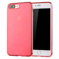 Прозрачный красный силиконовый чехол для iPhone 7 Plus / 8 Plus