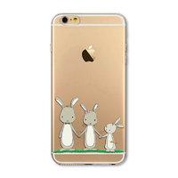 """Прозрачный силиконовый чехол для iPhone 6s / 6 (4.7"""") с рисунком Зайцы"""
