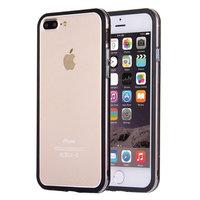 Черный пластиковый бампер для iPhone 7 Plus / 8 Plus с прозрачной полосой