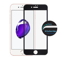 "Защитное 3D стекло для iPhone 7 / 8 (4.7"") с черной рамкой - 3D Curved Full Coverage Tempered Glass"