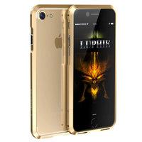 Золотой алюминиевый бампер на iPhone 7 - Luphie Rapier Series Aluminium Bumper Gold