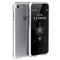 Алюминиевый бампер на iPhone 7 - Luphie Rapier Series Aluminium Bumper Silver