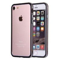"""Черный с прозрачной полосой пластиковый бампер для iPhone 7 (4.7"""")"""